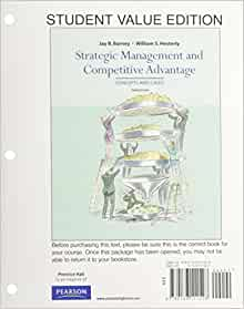 barney hesterly Jay barney is currently a presidential professor of strategic management and holds the lassonde chair in social barney & hesterly isbn-10: 0134743563.