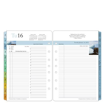 Classic Leadership Daily Ring-bound Planner - Jan 2018 - Dec 2018