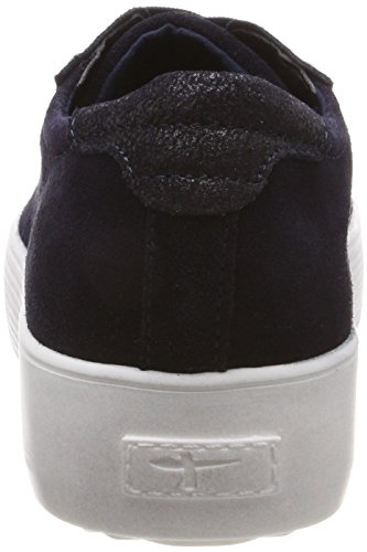 Tamaris Women's 23770 Low-Top Sneakers Blue (Navy Comb) bWSgi