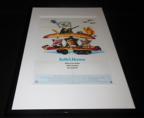 Kelly's Heroes 11x17 Framed Repro Poster Display Clint Eastwood
