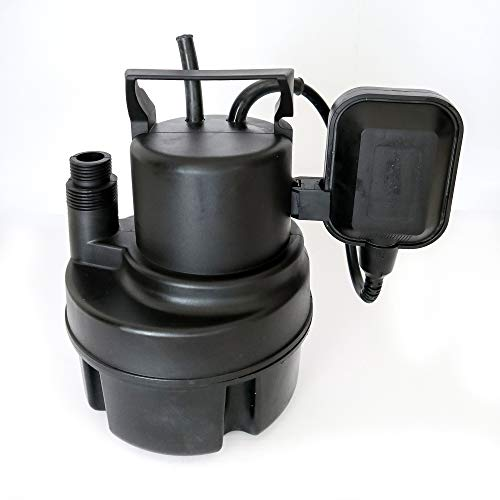 Puladear 1/3 HP Portable Submersible Utility Pump for Clean Water 1200 GPH Water Transfer Pump