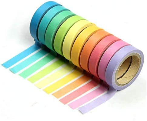 10 Rolls*Washi Paper Scrapbooking Decorative Sticker Masking Adhesive Tape w//