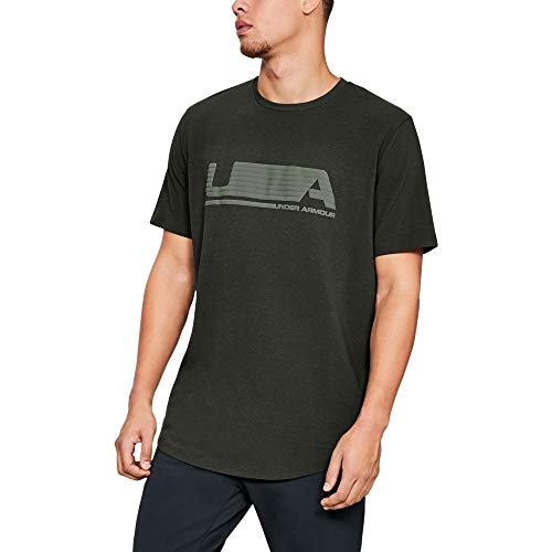 Under Armour Men's Versa Tee, Artillery Green (357)/Moss Green, - Mens Green Moss