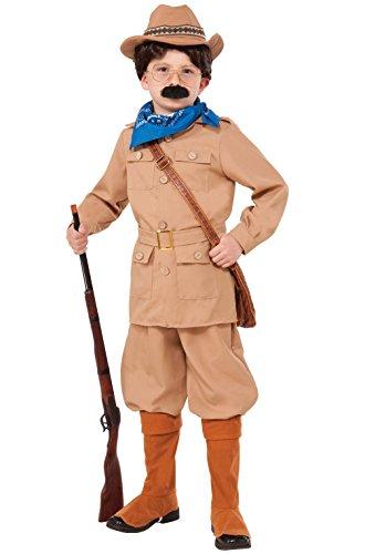 Mememall Fashion President Theodore Roosevelt Child Costume (S) (Circus Magician Costume)