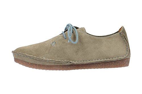Clarks Ladies Janey Mae Scarpe Grigie
