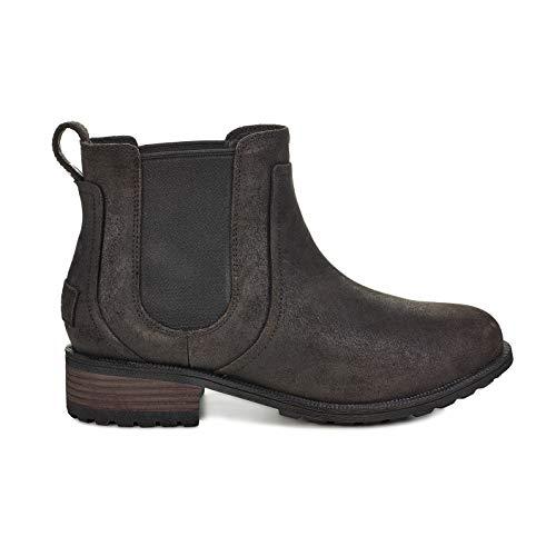 UGG Women's W Bonham Boot II Fashion, Black, 10 M US (Uggs Black Leather Boots)
