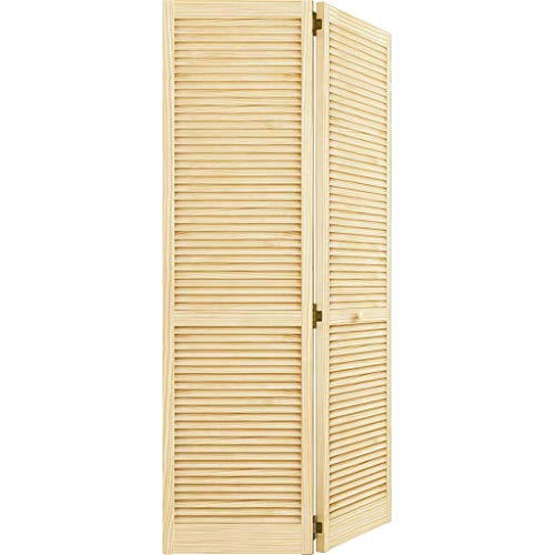 Closet Door, Bi-fold, Kimberly Bay Traditional Louver-Louver Clear (80x32)