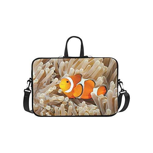 (Clown Fish Anemone and Clown Pattern Briefcase Laptop Bag Messenger Shoulder Work Bag Crossbody Handbag for Business Travelling)