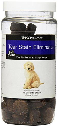 PSCPets Tear Stain Eliminator Soft Chews for Medium and Large Dogs, 240gm