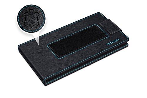 Funda para E&L S60 en Azul - Innovadora Funda 4 en 1-Anti-Gravedad para Montaje en Pared, Soporte de Tableta en Vehículos, Soporte de Tableta - Protector Anti-Golpes para Coches y Paredes sin necesida Cuero Negro