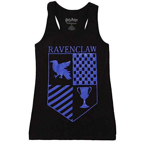 Harry Potter Ravenclaw Crest Juniors Racerback Tank Top - Black (Medium) (Styles Harry Top Tank)