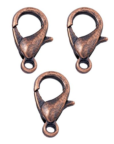 200 Lobster Clasps Antique Copper Plated (12x6) Lobster Claw Clasps Jewelry Making Findings Lead & Nickel Free