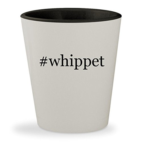 Price comparison product image #whippet - Hashtag White Outer & Black Inner Ceramic 1.5oz Shot Glass