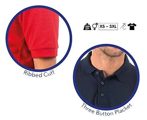 Shirt Mens Premium Ladies 220gsm Polyester Bruntwood Polo Navy amp; cotton axSUvUqEwn