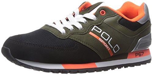 Polo Ralph Lauren Men's Slaton Polo Fashion Sneaker, Expedition Olive Multi, 10.5 D - Ralph Lauren Expedition