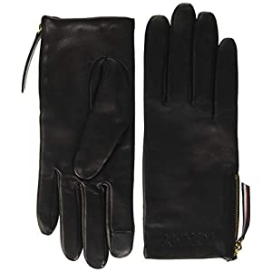 Tommy Hilfiger Women's Corporate Detail Leather Gloves