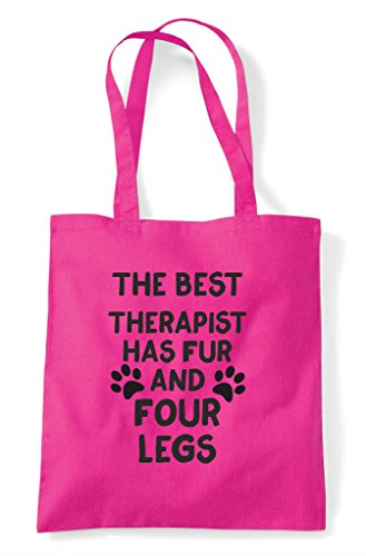 Therapist Funny Four Shopper Bag Themed Cute Fuschia Legs The Best Animal Has Tote And Fur B5OARHRwq