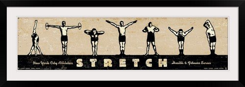 GreatBIGCanvas ''Stretch, Health'' by Peter Horjus Photographic Print with Black Frame, 48'' x 12''