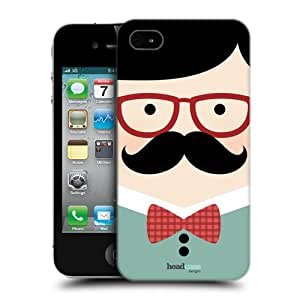 Head Case Designs Tony The Moustache Club Protective Snap-on Hard Back Case Cover for Apple iPhone 4 4S