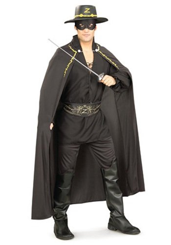 Rubie's Costume Co Men's Zorro Adult Accessory Set, Black, One Size