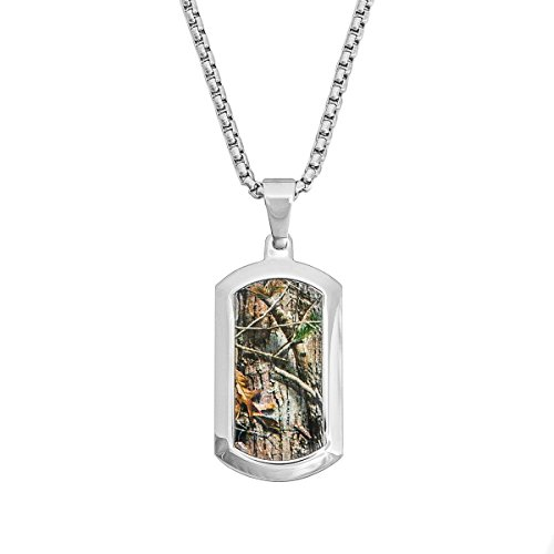 Apg Arrows (Stainless Steel Realtree AP Camo Dog Tag Necklace Pendant 22