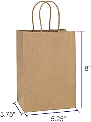 Amazon.com: bagdream Kraft bolsas de papel 100pcs 5.25