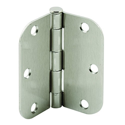 Prime-Line Products U 11262 Steel Butt Hinges with 5/8 Corner Radius, 3-1/2 x 3-1/2, Satin Nickel Finish by Prime-Line Products