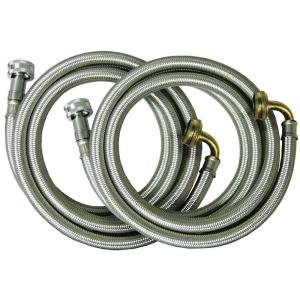 - 3/4 in. x 3/4 in. x 72 in. Stainless Steel Washing Machine Connectors (2-Pack)