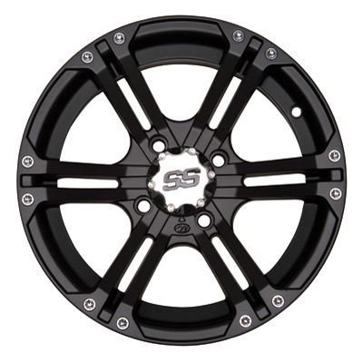 ITP SS ALLOY SS212 Matte Black Wheel with Machined Finish (14x6''/4x156mm) by ITP (Image #1)
