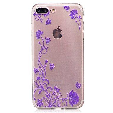 Fundas y estuches para teléfonos móviles, Para el tpu suave de la flor de la rota de la caja trasera del caso del imd para el iphone 7 más 7 6s más 6 más 6s 6 se 5s 5 ( Color : Rosa , Modelos Compatib