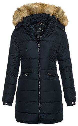 42067e915239 Navahoo Damen Winter Jacke Steppmantel Parka Langer Mantel Warm gefüttert  B359 Navy HSXm6CmsY