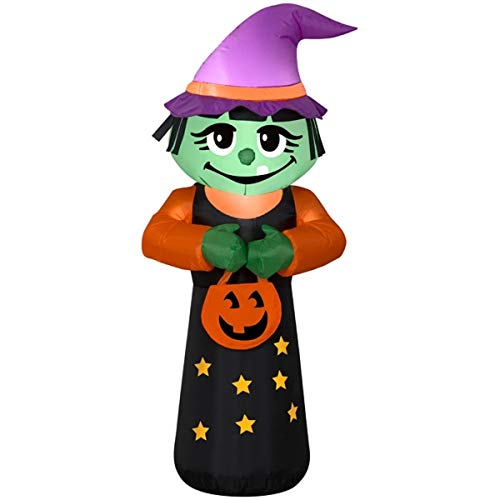 Halloween Inflatable 4' Trick or Treat Happy Witch Airblown ()