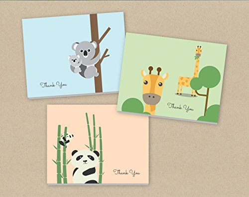 baby-thank-you-cards-24-cards-and-envelopes-baby-animals-note-cards