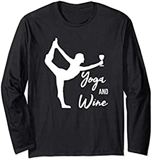 Best Gift Yoga And Wine-Funny Wine Gift for Women-Yoga Teacher Gift Long Sleeve  Need Funny TShirt / S - 5Xl