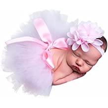 Clearance! Newborn Baby Girls Photo Photography Prop Tutu Skirt Headband Outfit Clothes Set