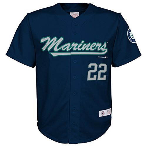 MLB Seattle Mariners Boys Player Cano Fashion Jersey , Athletic Navy, 4/5