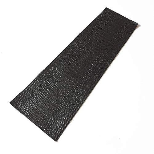 (FidgetFidget Piece Pool Cue Black Crocodile Embossed Cowhide Leather Wrap One(1) )