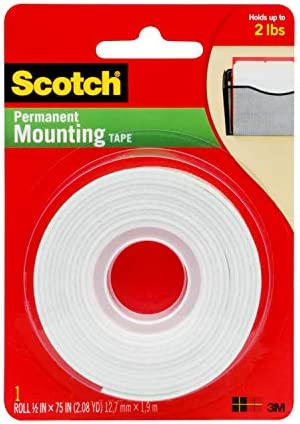- .0.5x75 110 1-Roll 1//2-in x 75-in Scotch Indoor Mounting Tape White