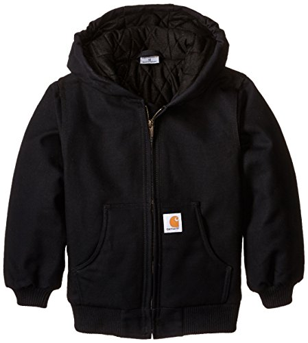 Carhartt Little Boys' Active Duck Jacket, Caviar Black, X-Small-6