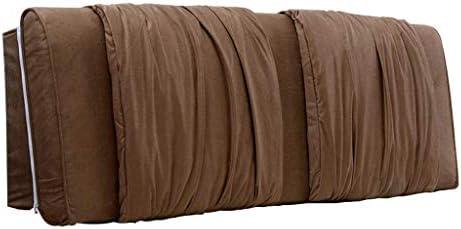 枕ソフトベッドバック、ダブル木製ベッドサイズベルト枕読書枕読書カバー洗える生地4色、6サイズ(色:茶色、サイズ:120 * 58 cm)