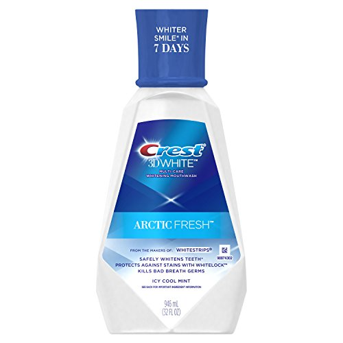 - Crest 3D White Arctic Fresh Multi-Care Whitening Mouthwash, Icy Cool Mint, 946 mL