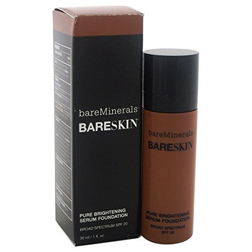 bareMinerals Pure Brightening Serum SPF 20 All Skin Types Bare Mocha 20 Foundation for Women, 1 Fl Oz (Best Foundation For Light Skin African American)