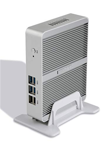 Kingdel Smart Compact Mini Desktop Computer, Fanless Nettop with Intel Celeron N3150 4 Cores CPU, 8GB RAM, 128GB SSD, 2LAN, 2HD Ports, 4USB 3.0, Wi-Fi, Windows 10 Pro