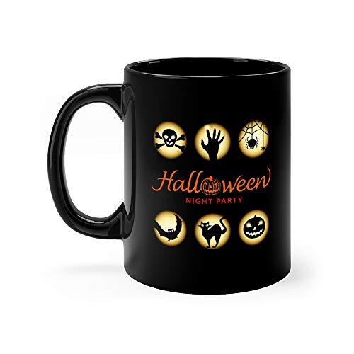 Halloween Night Party Elements Mug 11 Oz Ceramic ()