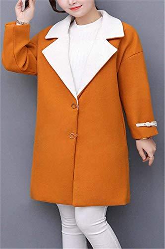 Prendas Larga Outwear Abrigos Anchas Mujer Largos Invierno Hipster Elegantes Chaqueta Solapa Manga De Ropa Exteriores Termica Bildfarbe1 Ocasional Abrigo Lana WgTaq48x
