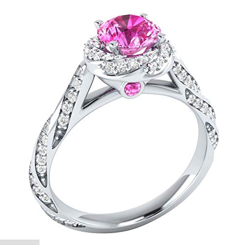 Red 7 Commitment Zircon Ring Eternal Luxury Fashion Womens Zircon Ring Plated 925 Silver Ring Ring MGZDH Ms