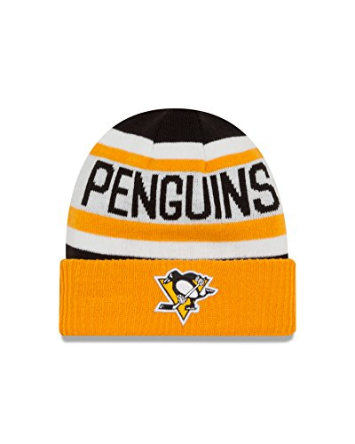 NHL Pittsburgh Penguins Biggest Fan 2.0 Cuff Knit Beanie, One Size, Yellow