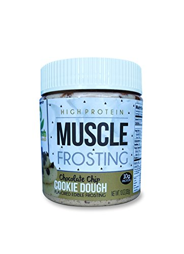 You Fresh Naturals - Chocolate Chip Cookie Dough Muscle Frosting - High Protein (10 grams) Gluten Free Cashew Nut Butter - Easy To Use and Versatile