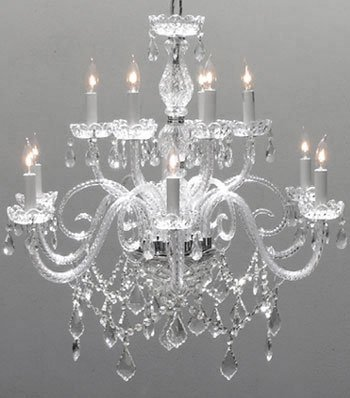 "Gallery Crystal Chandelier Lighting Chandeliers Size: H27"" X W32"""