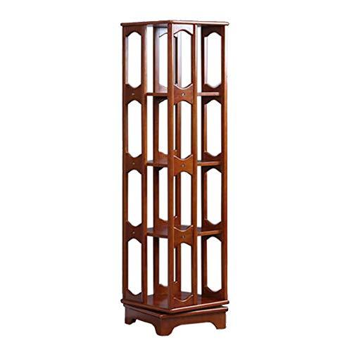 Jcnfa-Shelves Rotating Bookshelf 360° Steel Ball Rotation Shelving Bookcase Cabinet DIY Closet Organizers Living Room Bedroom Office (Color : B, Size : 14.9614.9657.48in)